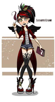 Monster High OC - Lenore Crow by ~AzureDragon801 on deviantART