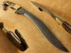 """17"""" Handmade forged DAMASCUS BOWIE Knife by Bhrcuttlery on Etsy"""
