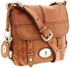 "Fossil Women's Maddox Cross-Body,Chestnut. not sure about the ""lock"" plate on the front."