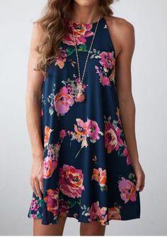 Floral Strappy Mini Dress