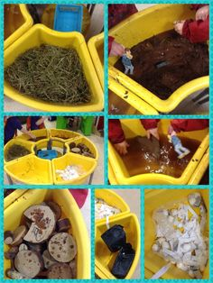 Walk and talk the story 'We're going on a bear hunt'. Children used the wooden story characters to retell the story. Preschool Books, Book Activities, Five In A Row, Book Corners, Animal Habitats, Book Study, Story Characters, Circle Time, Early Literacy