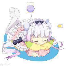 anime gif :: kanna kamui :: Kobayashi-san chi no maidragon :: anime Anime Chibi, Moe Anime, Manga Anime, Anime Art, Loli Kawaii, Kawaii Anime, Maid Dragon Kanna, Gifs Kawaii, Dragons Tumblr
