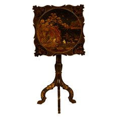1stdibs.com   Lacquer  Decorated Candlestand