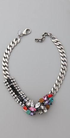 Iosselliani Crystal & Stone Collar Necklace - StyleSays