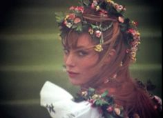 I have a serious Jane Birkin crush going on right now.  #wonderwall #flowersinhair #flowers #summer #janebirkin