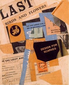Kurt Schwitters  Last Birds and Flowers, 1946, Collage on paper laid down on card, 17.1 x 14.2 cms (6 3/4 x 5 5/8 ins)
