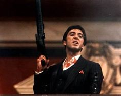 """Say hello to my little friend."" Tony Montana Al Pacino Scarface 1983"
