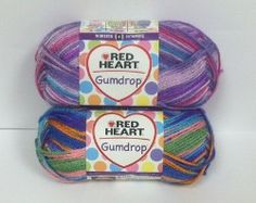 This beautiful Gumdrop yarn from Red Heart will be super fun to work with during the spring. We're giving away two skeins!