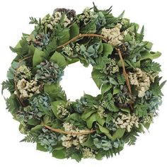 Urban Florals Blue Sky Natural Elements Wreath Size: