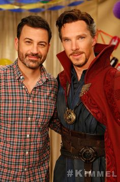 Benedict Cumberbatch (as Doctor Strange) and Jimmy Kimmel on JIMMY KIMMEL LIVE. October 20,, 2016.