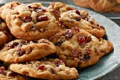 Kris Kringle, Santa, jolly ol' St. Nick…no matter what you call him, he is gonna love cookies studded with white chocolate, dried cranberries and pecans.