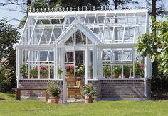 beautiful english greenhouse