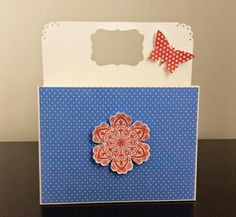 Card holder made using Clearly I Stamp video tutorial. Check my blog for a link to it.