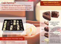 ¡Pruebe nuestros triángulos de chocolate y con un relleno irresistible!