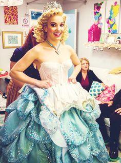 Backstage at Kara Lindsay's first night as Glinda on Broadway!