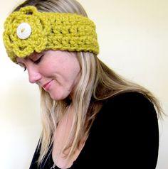 Very+Easy+Crochet+Headbands | Crochet Flower Headband Crochet Pattern | Red Heart
