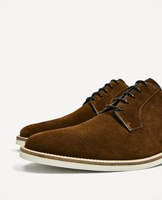 Image 3 of SPLIT SUEDE CASUAL LEATHER SHOES from Zara