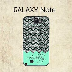 Galaxy Note 4 Case Mint Chevron Galaxy Case by mylittlecase
