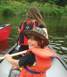 Group school canoe trips