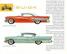 1958 Buick Special Two Door Riviera and Limited Four Door Riviera