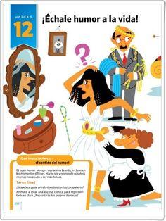 Unidad 12 de Lengua de 5º de Primaria Anaya, Editorial, Illustrations, Humor, Late Homework, Interactive Activities, Unity, United States, Humour