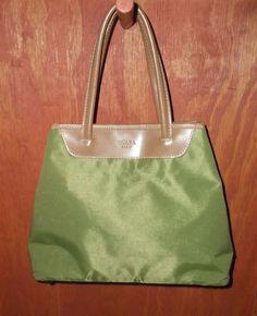 ABACO OCABA Paris Olive Green & Tan Microfiber Tote Bag #OcabaParis #TotesShoppers