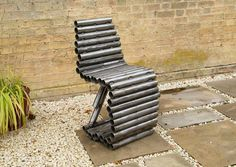 Recycled Tube Chair created entirely from steel tubes