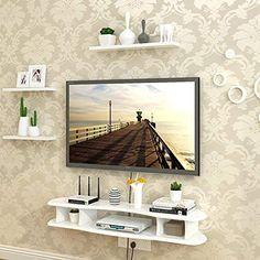 Living Room Shelves, Small Living Rooms, Living Room Decor, Tv Unit Furniture Design, Home Decor Furniture, Living Room Theaters, Tv Unit Decor, Floating Shelves Bedroom, Living Room Tv Unit Designs
