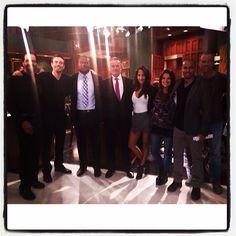 Kristoff St John, Daniel Goddard, Michael Robinson, Eric Braeden, Christel Khalil, Melissa Claire Egan, Bryton James & Sean Carrigan bts at CBS Studios on February 14, 2014