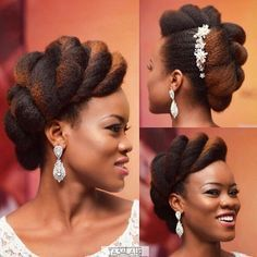 20 stunning wedding hairstyles ideas – My hair and beauty Natural Hair Wedding, Natural Wedding Hairstyles, Natural Hair Updo, Natural Hair Care, Bride Hairstyles, Natural Hair Styles, Top Hairstyles, Natural Hair Brides, Stylish Hairstyles