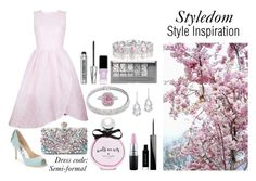 """Styledom style inspo"" by khouryolivia ❤ liked on Polyvore featuring Badgley Mischka, Givenchy, Ukulele, Bare Escentuals, Kate Spade, Bling Jewelry, Plukka, MAC Cosmetics, Collette Z and JINsoon"