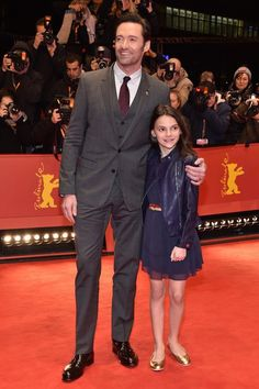 Hugh Jackman and Dafne Keen