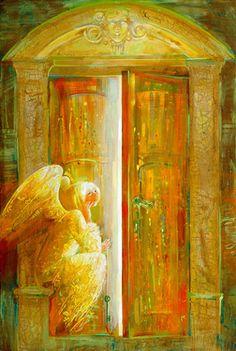 """Saatchi Online Artist Yulia Luchkina; Painting, """"DOOR"""" #art"""