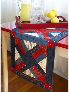 SEWING-TABLE RUNNERS/QUILTS  Patriotic Table Runner
