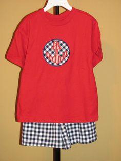 Nautical Shorts Set by vduff on Etsy, $30.00