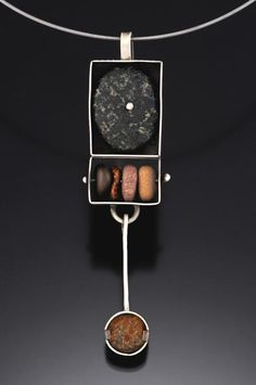 Susan Richter-O'Connell: sterling & river rock pendant