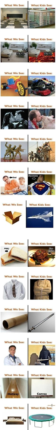 i still view some of these the same as when I was young the second one is the most accurate