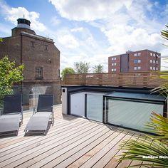 access skylight for decking terrace