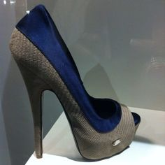 Blue and grey heels - Just so happens to be the color scheme I'm painting my living room in too!