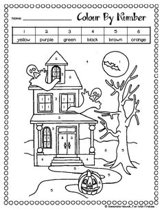 halloween spider on web primary lined kids writing paper