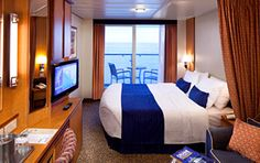 Discover Royal Caribbean Cruises awe inspiring cruise rooms and suites that continuously exceed guest expectations on every level. Learn more about our revolutionary cruise accommodations. Royal Caribbean Ships, Royal Caribbean Cruise, Cruise Travel, Cruise Vacation, New England Cruises, Serenade Of The Seas, Pacific Cruise, Royal Caribbean International, Jewel Of The Seas