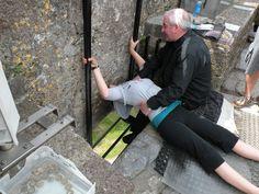 Kissing the Blarney Stone! Blarney Castle, Ireland