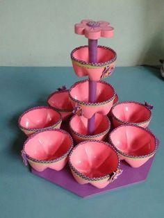 Dulcero reciclado rosa