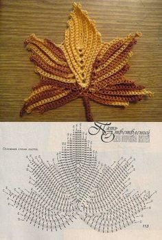 Irish crochet leaf motifs