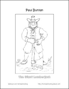 free paul bunyan coloring pages - photo#22