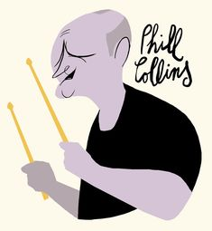 Phill Collins / musician / by Francisco Javier Olea A Funny, Funny Faces, Phill Collins, Pop Rocks, Illustration Art, Illustrations, Caricatures, Star, Life