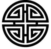 Four blessings, Chinese Good Luck Symbol, Amulet T-Shirts Celtic Symbols, Ancient Symbols, 3d Templates, Silkscreen, Good Luck Symbols, Chinese Patterns, Vegvisir, Chinese Symbols, Illustration