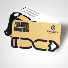 #DieCut #BusinessCards from @inkgility