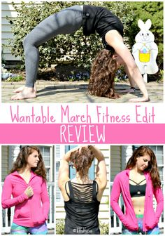 Wantable March Fitness Edit | Fit & Fashionable | Fit Fashion | Sweaty Style | Spring Fitness Apparel | Designer Fitness Apparel | Leggings | Pink Jacket | Sports Bra