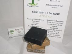 An old classic bar. One of a kind blend of aloes and earthy fragrances, this is our take on African Black Soap. Helps calm, great for problem skin. The scent is to die for!  4.5 ounces of awesome soap.  Olive Oil, Coconut Oil, Soybean Oil, Corn Oil, Hemp Oil, Organic Shea Butter, charcoal, fragrance  No Preservatives, No Animal Products, No Petroleum Products, No Parabens, No Lauryl Sulfate